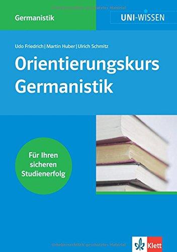 9783129390009: Orientierungskurs Germanistik