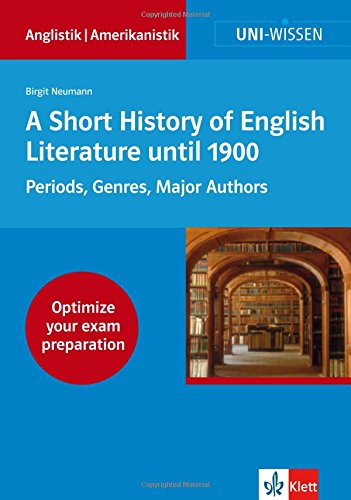 9783129395400: A Short History of English Literature: Periods, Genres, Major Authors