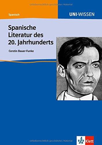 9783129396216: Spanische Literatur des 20. Jahrhunderts
