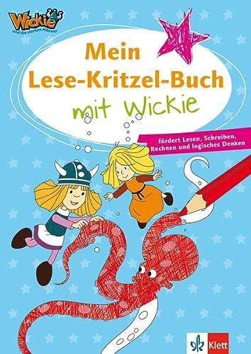 Mein Lese-Kritzel-Buch mit Wickie: fördert Lesen, Schreiben,