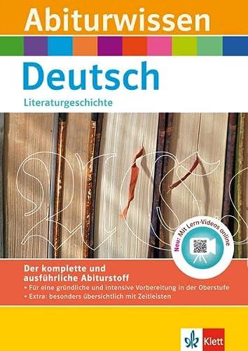 9783129491591: Abiturwissen Deutsch: Literaturgeschichte mit Lern-Videos