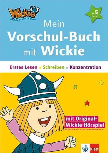 9783129492758: Mein Vorschul-Buch mit Wickie: Erstes Lesen, Schreiben, Konzentration ab 5 Jahren. Buch mit Audio-Dateien (per QR-Code oder Link) und integrierten Bastelbogen