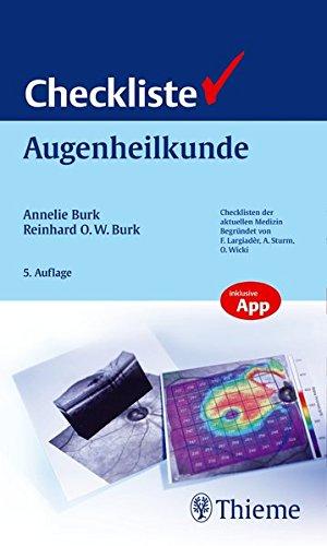 Checkliste Augenheilkunde: Annelie Burk