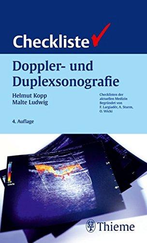 9783131109347: Checkliste Doppler- und Duplexsonografie