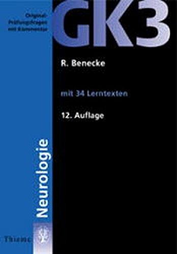 9783131129222: GK 3 Neurologie. Mit 34 Lerntexten