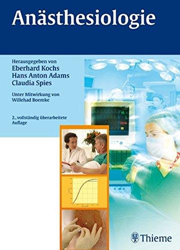Anästhesiologie Gebundene Ausgabe von Hans Anton Adams: Hans Anton Adams