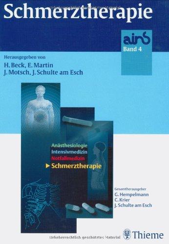 ains, 4 Bde., Bd.4, Schmerztherapie (Gebundene Ausgabe): Helge Beck Eike