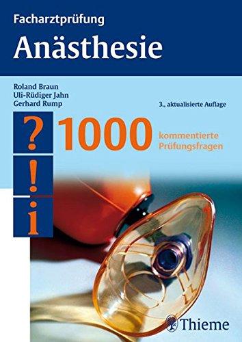 Braun Anästhesie 1000 Prüfungsfragen Zvab
