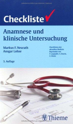 9783131273338: Checkliste Anamnese und klinische Untersuchung