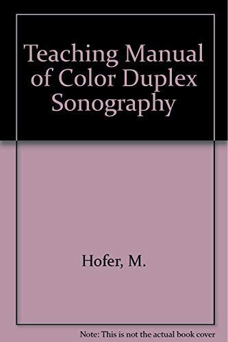 9783131275929: Teaching Manual of Color Duplex Sonography