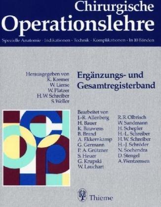 9783131295910: Chirurgische Operationslehre, Paket Unfallchirurgie, 4 Bde. u. Reg.bd.