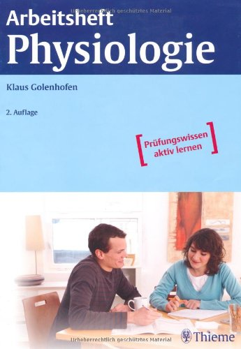 9783131319722: Arbeitsheft Physiologie
