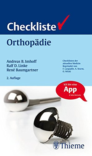 9783131422828: Checkliste Orthopädie