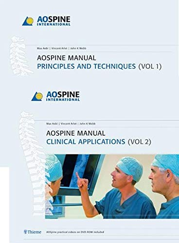 9783131444813: AoSpine Manual: Principles and Techniques, Clinical Applications (2 Vol. Set) (v. 1)