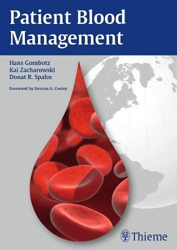 9783132004412: Patient Blood Management