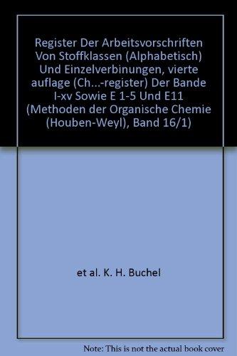 Register Der Arbeitsvorschriften Von Stoffklassen (Alphabetisch) Und: et al. K.