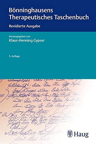 Bonninghausens Therapeutisches Taschenbuch: Revidierte Ausgabe: Klaus-Henning Gypser