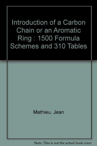 Formation of C- C Bonds II. Introduction: Mathieu, Jean