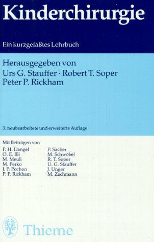 9783135201030: Kinderchirurgie. Ein kurzgefaßtes Lehrbuch.