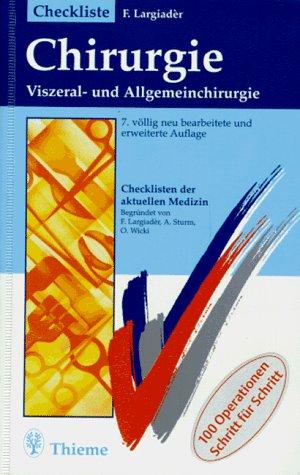 9783135225074: Checkliste Chirurgie. Viszeral- und Allgemeinchirurgie