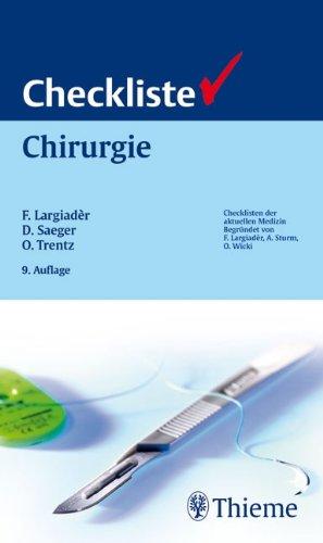 9783135225098: Checkliste Chirurgie