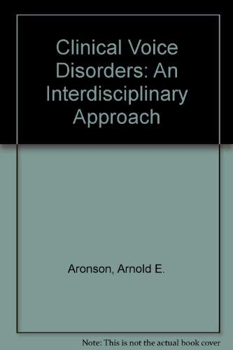 9783135988023: Clinical Voice Disorders: An Interdisciplinary Approach