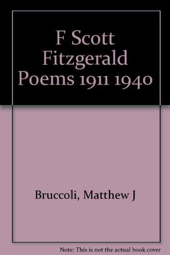 9783136428894: F Scott Fitzgerald Poems 1911 1940
