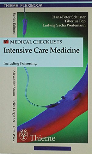 9783137249016: Checklist Intensive Care Medicine Including Poisoning (Thieme flexibooks)