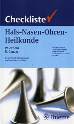 9783137402039: Checklisten der aktuellen Medizin, Checkliste Hals-Nasen-Ohren-Heilkunde