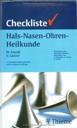 9783137402046: Checkliste Hals-Nasen-Ohren-Heilkunde