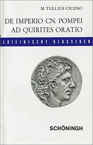 9783140107037: De imperio Cn. Pompei (sive de lege Manilia) ad Quirites oratio