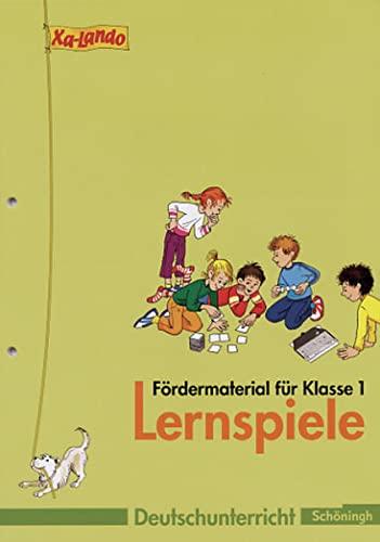 9783140134569: Xa-Lando - Lernen als Abenteuer - Neubearbeitung. Deutsch- und Sachbuch fA¼r die Grundschule: Xa-Lando, Lernen als Abenteuer, Neubearbeitung, Bd.1 : 1. Klasse, Lernspiele - FA¶rdermaterial