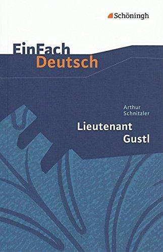 9783140224611: Lieutenant Gustl. Textausgaben Klassen 11-13