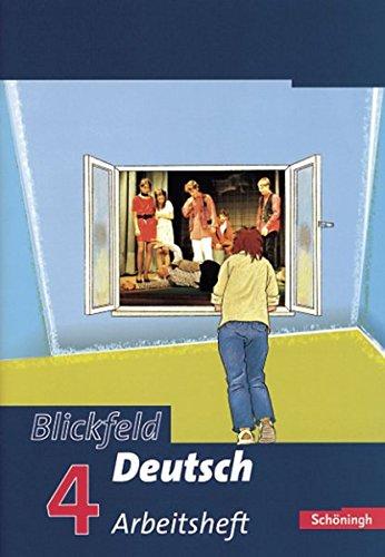9783140288859: Blickfeld Deutsch 4 Arbeitsheft. Gymnasium: mit Lösungen - Arbeitsbücher - Klasse 8