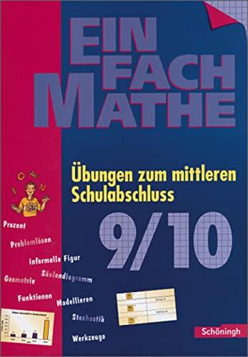 9783140373272: EinFach Mathe: �bungen zum mittleren Schulabschluss: Jahrgangsstufen 9/10