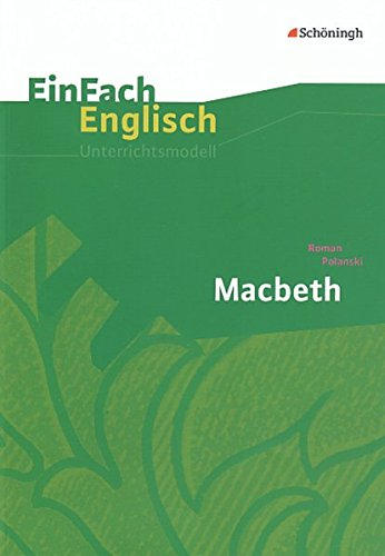 9783140412353: Roman Polanski: Macbeth: Filmanalyse: EinFach Englisch Unterrichtsmodelle