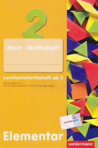 9783141135848: Erste Grundlagen in Mathematik. Lernfortschrittsheft ab 5 Jahre: Elementar 14