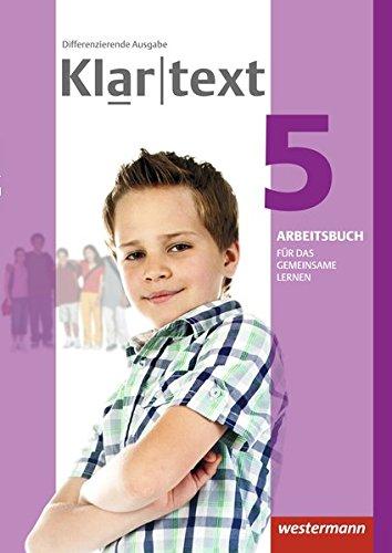 9783141237740: Klartext 5. Arbeitsbuch. Individuelle Förderung - Inklusion. Differenzierende allgemeine Ausgabe: Ausgabe 2014