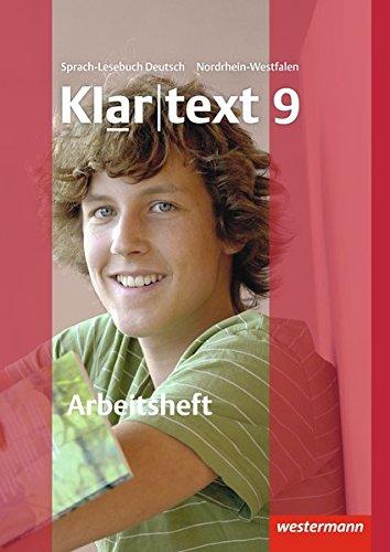 9783141241792: Klartext 9. Arbeitsheft mit Lösungen. Nordrhein-Westfalen: Arbeitsheft 9 mit Lösungen: plus interaktive Übungen