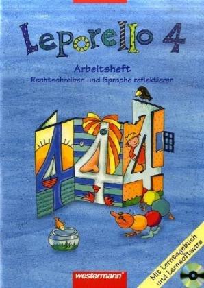 9783141291445: Leporello Sprach-Lesebuch 4. Arbeitsheft mit CD-ROM. Allgemeine Ausgabe: Lern-Spiel-Werkstatt