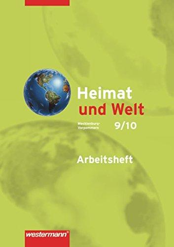 9783141449389: Heimat und Welt 9/10. Arbeitsheft. Mecklenburg-Vorpommern: Ausgabe 2008