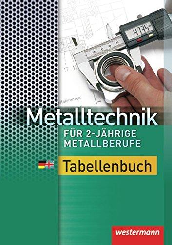 9783142210155: Metalltechnik für 2-jährige Metallberufe: Tabellenbuch