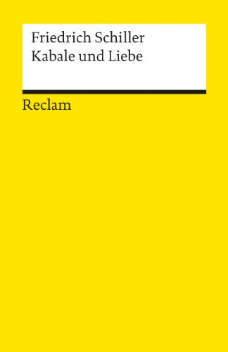 9783150000335: Kabale Und Liebe (German Edition)