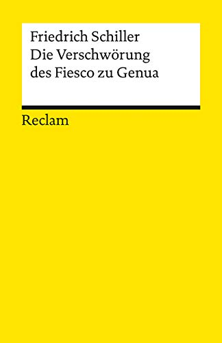 9783150000519: Die Verschwörung des Fiesko zu Genua
