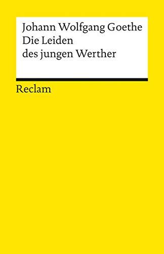 9783150000670: Die Leiden des Jungen Werther (Universal-Bibliothek ; Nr. 67) (German Edition)