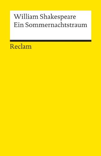 9783150000731: Ein Sommernachtstraum (German Edition)