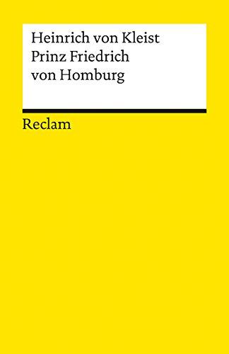 9783150001783: Prinz Friedrich von Homburg