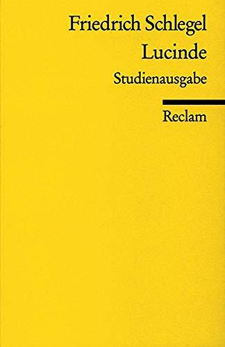9783150003206: Lucinde (German Edition)