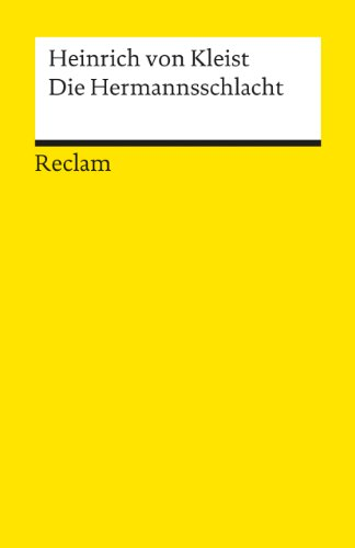 9783150003480: Die Hermannsschlacht