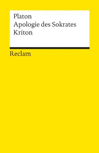 9783150008959: Apologie des Sokrates / Kriton